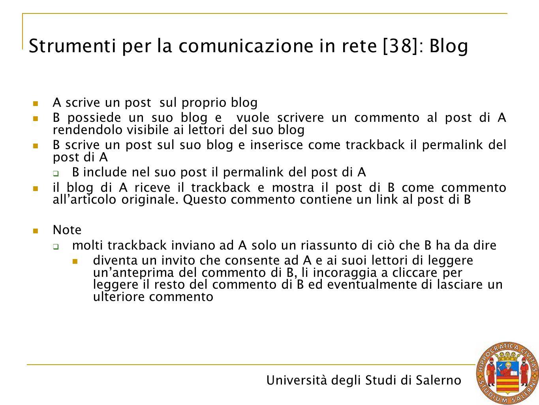 Strumenti per la comunicazione in rete [38]: Blog